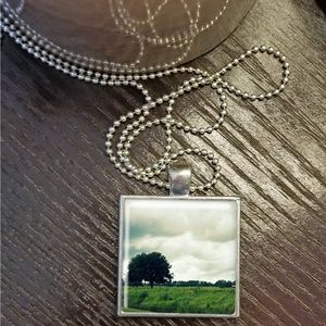 Oak Tree Square Pendant